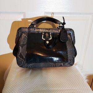 Cole Haan Snake Skin satchel handbag purse
